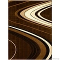 "AllStar Rugs Brown Modern Contemporary Area Rug (7' 10"" x 10' 2"") - Thumbnail 1"