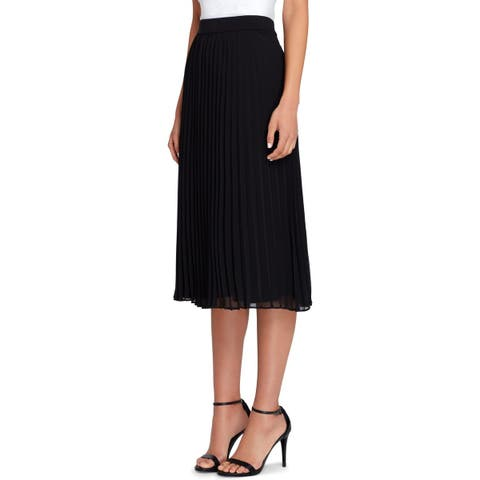 Tahari ASL Womens Midi Skirt Pleated Career Wear