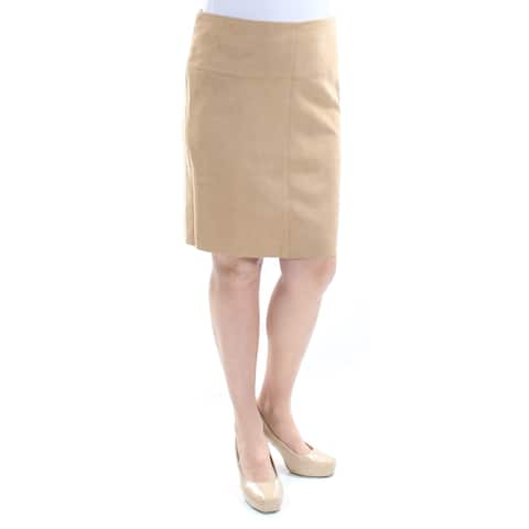 KENSIE Womens Brown Faux Suede Above The Knee Pencil Skirt Size: M