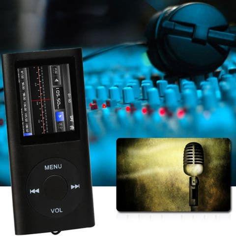 Portable Mp3 Music Player, Fm Radio, Media Player, Voice Recorder Device