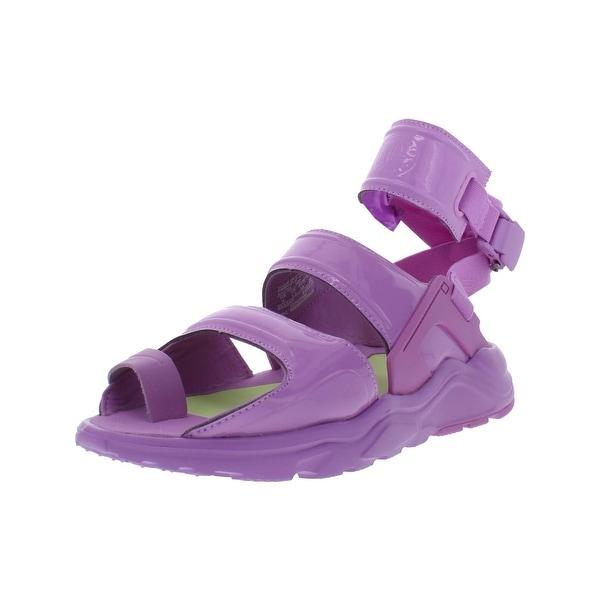 0ecb7ebccfbf Nike Womens Air Huarache Gladiator QS Sport Sandals Patent Leather Toe Loop