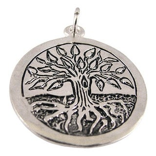 Solid Sterling Silver Celtic Tree Of Life Pendant