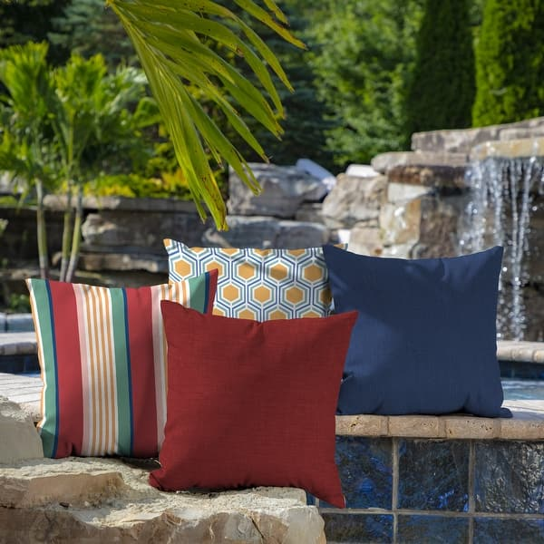 Arden Selections Ruby Leala Texture Outdoor Square Pillow 2 Pack 16 In L X 16 In W X 5 In H Overstock 20456653