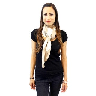 Positive Outlook Square Satin Striped Scarf