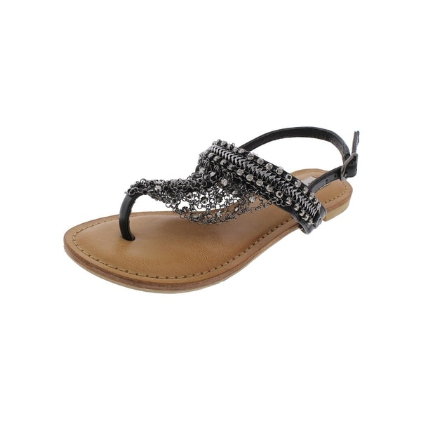 a450abaf0b745 Shop Not Rated Womens Gem T-Strap Sandals Jewels Embellished - Free ...
