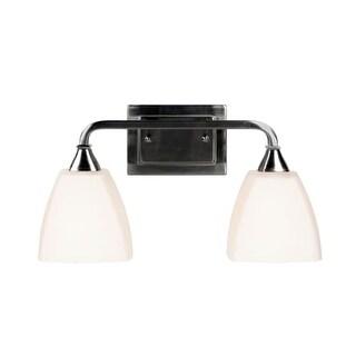 "Jeremiah Lighting 169172 Lawton 2 Light Bathroom Vanity Light - 18"" Wide"