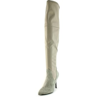 Charles By Charles David Premium Women Canvas Gray Over the Knee Boot