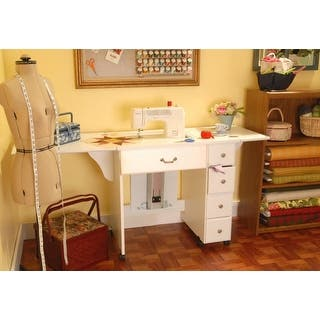Arrow 98901 Auntie Em Sewing Machine Table Cabinet - White|https://ak1.ostkcdn.com/images/products/is/images/direct/71bbf6cdd874d2af1a7806b94d56e226927ddcfc/Arrow-98901-Auntie-Em-Sewing-Cabinet.jpg?impolicy=medium