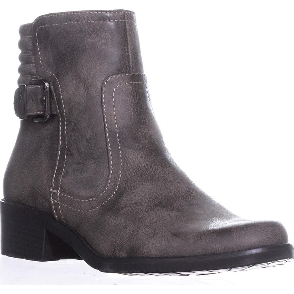 AK Anne Klein Sport Lanette Short Motorcycle Boots, Taupe