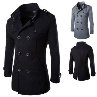 Link to Men's Fashion Wool Woolen Coat Double Breasted Similar Items in Men's Outerwear