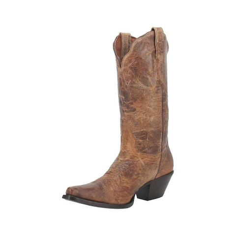 Dan Post Western Boots Womens Colleen Leather Tan