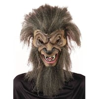 Wolf By Night Costume Mask Adult One Size - Brown