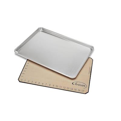 Artisan 80740WH Large Size Baking Pan and Mat Set (Mat with Measurements)