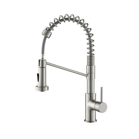 Pull Out Single Level Lead Free Brass Kitchen Faucet with Sprayer and Magnetic Docking