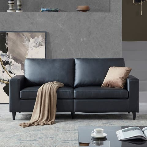 Sofa and Loveseat Sets Morden Style PU Leather (3 seat)