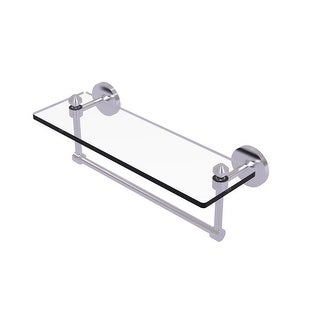 Allied Brass Southbeach Collection Glass Vanity Shelf with Integrated Towel Bar