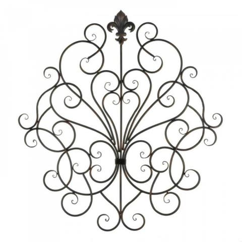 Decorative Scrollwork Wall Plaque