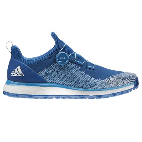 Men's Adidas Forgefiber BOA Dark Marine/Cyan/White Golf Shoes BB7918