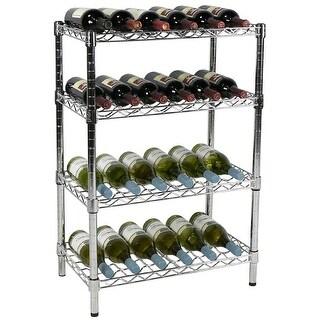 """Apollo Hardware Chrome 4-Tier Wire Wine Shelving,14""""x24""""x36"""""""