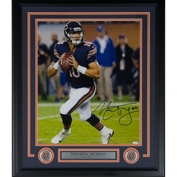 quality design 4a915 da83a Shop Mitchell Trubisky Signed Framed Chicago Bears 16x20 ...