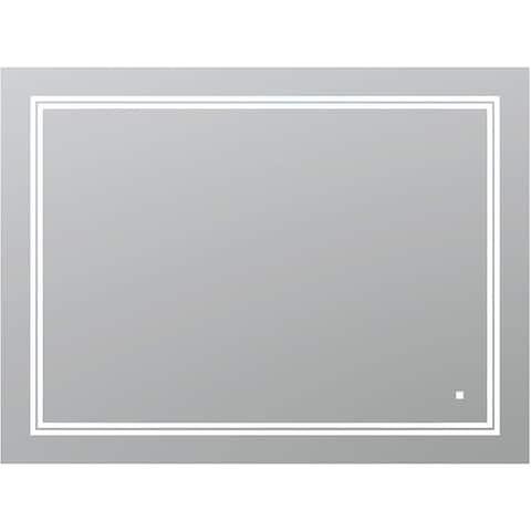 """AQUADOM SOHO, 48""""x36""""x1"""" Ultra-Slim Frame LED Mirror"""