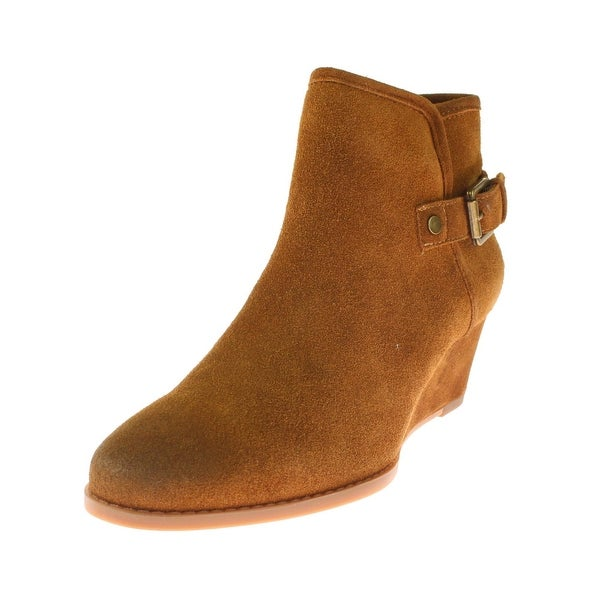 Franco Sarto Womens Wichita Ankle Boots Suede Buckle