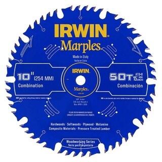 "Irwin 1807368 50-T Marples Woodworking Series Circular Saw Blade, 10"""