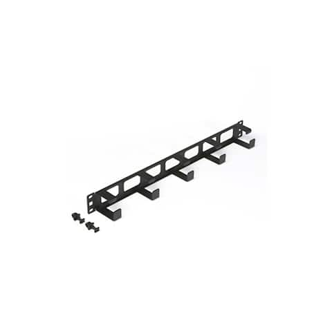 Offex Rackmount 5X D Ring Cable Manager, 1U