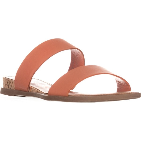 AR35 Easten Flat Two Strap Sandals, Coral - 6 us