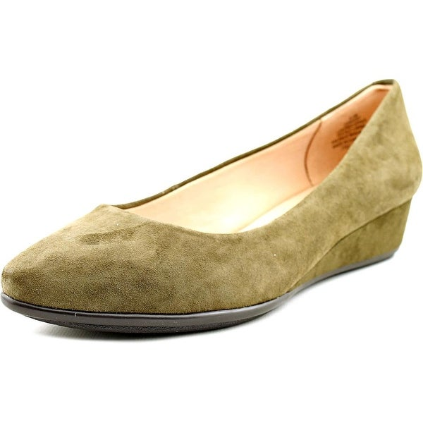 Easy Spirit e360 Avery Women Open Toe Suede Wedge Heel