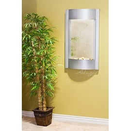 Adagio Serene Waters Wall Fountain with Silver Mirror Backing and Woodland Brown
