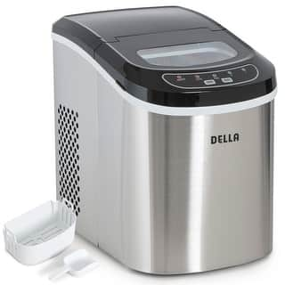 Della Portable Ice Maker Easy-Touch Buttons 2 Selectable Cube Sizes - Up To 26 LBS of Ice Daily -Stainless Steel|https://ak1.ostkcdn.com/images/products/is/images/direct/71c5efd6e7f8fd1b16fa830a679226f3b969b7db/Della-Portable-Ice-Maker-Easy-Touch-Buttons-2-Selectable-Cube-Sizes---Up-To-26-LBS-of-Ice-Daily--Stainless-Steel.jpg?impolicy=medium