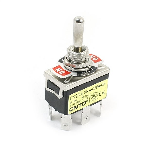 Shop AC250V 15A DPDT 3 Positions 6Pin Terminals Rocker Type Toggle ...