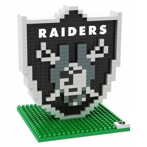 Oakland Raiders 3D NFL BRXLZ Bricks Puzzle Team Logo