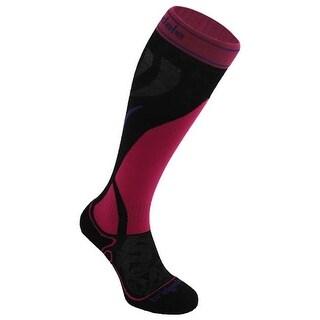 Bridgedale 562286 Vertige Light Ski Socks, Silver & Black - Medium