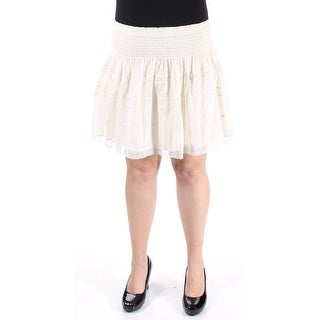 $145 RALPH LAUREN New Womens 1382 Ivory Mini A-Line Skirt XL B+B