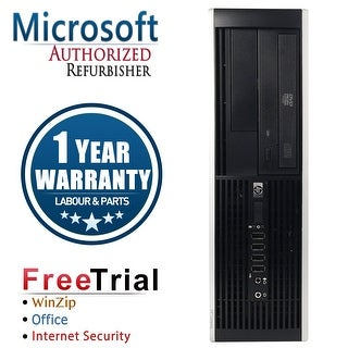 Refurbished HP Compaq 6000 Pro SFF DC E6300 2.8G 8G DDR3 250G DVD Win 7 Pro 64 Bits 1 Year Warranty - Black