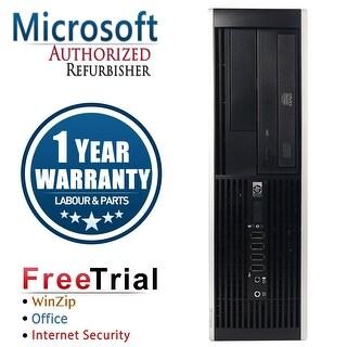 Refurbished HP Compaq 8000 Elite SFF Intel Core 2 Duo E8400 3.0G 4G DDR3 160G DVD WIN 10 Pro 64 1 Year Warranty - Black