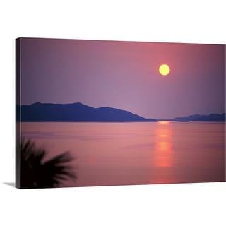 """Sunrise over sea"" Canvas Wall Art"