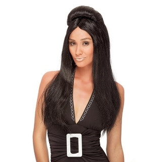 Shore Thang Black Adult Costume Wig
