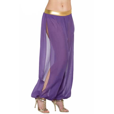 Forum Novelties Belly Dancer Harem Pants Adult Costume (Purple) - Purple