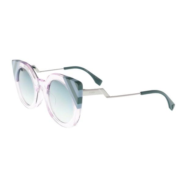 cd05de5a5b Shop Fendi FF 0240 S 035J Waves Pink Eyewear Sunglasses - 47-26-140 ...