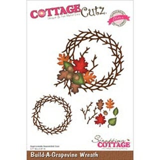 "Build-A-Grapevine Wreath 3.7""X3.5"" - Cottagecutz Elites Die"