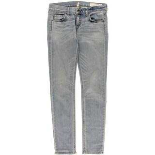 Rag & Bone Womens The Dre Boyfriend Jeans Skinny Distressed