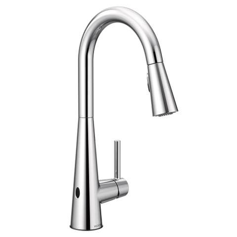 Moen 7864ew Sleek 1 5 Gpm Pull Down High Arc Kitchen Faucet With Motionsense