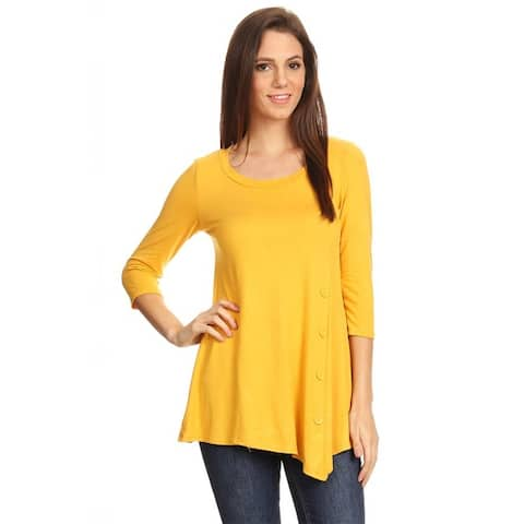 Women's Casual Solid Tunic Top Made in USA