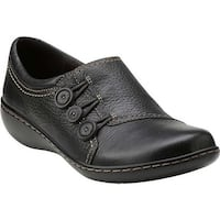 Clarks Women's Ashland Effie Black Leather