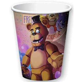 Five Nights At Freddy's 9oz Paper Cups 8ct - Multi