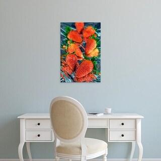 Easy Art Prints Nico Tondini's 'Fresh Strawberries' Premium Canvas Art