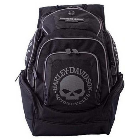 Harley-Davidson Mens Skull Backpack BP1924S-BLACK - Extra Large